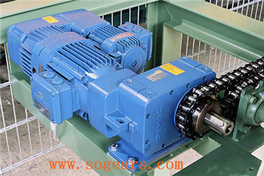 Shaft mounted helical gear units
