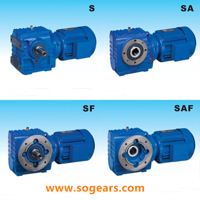 right angle helical bevel gear motor