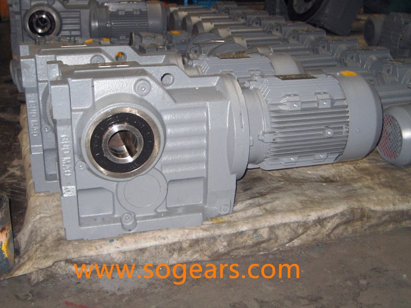 helical bevel gear box motor