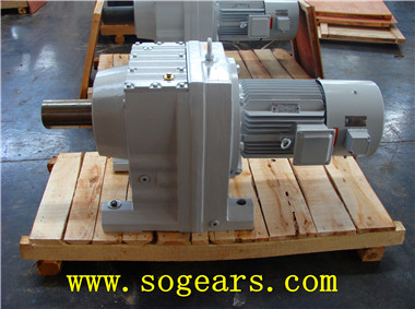 Coaxial helical gear units