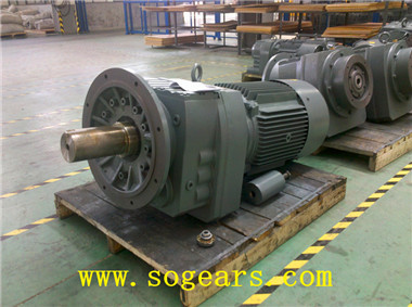inline helical gear motors