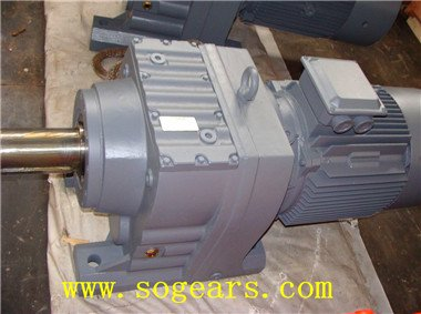 Gear box with feet and motor