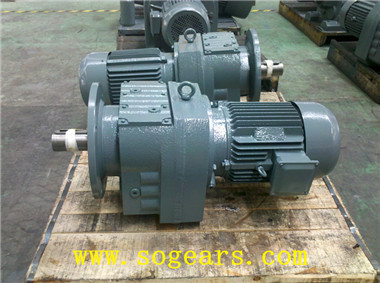 Concentric helical gear motor