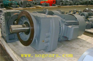 helical reduction gear motor