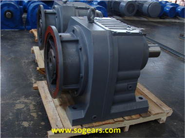 In-line helical gear drive