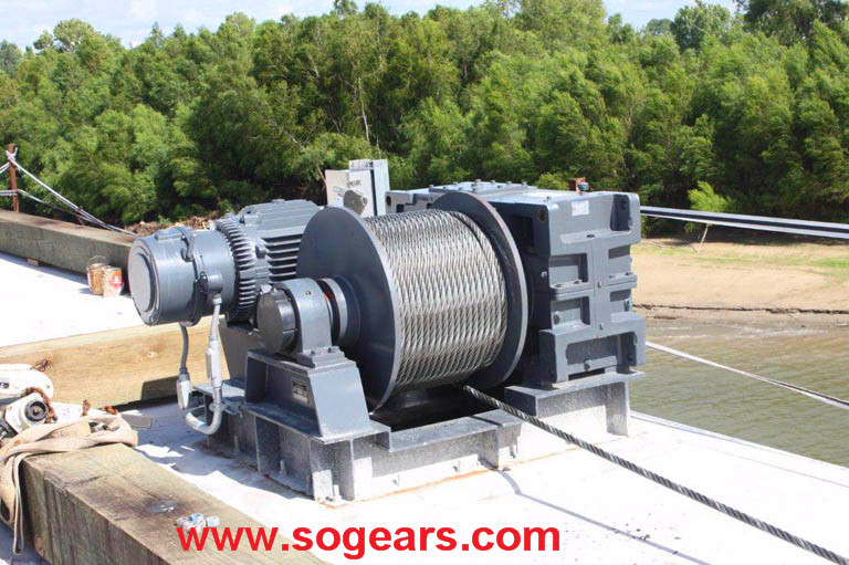 Hollow shaft industrial gearbox