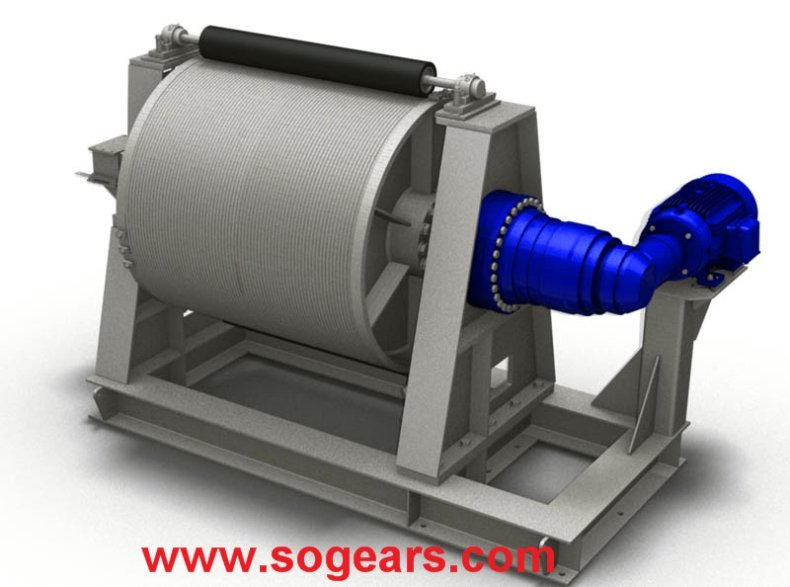 Planetary gearbox for winch