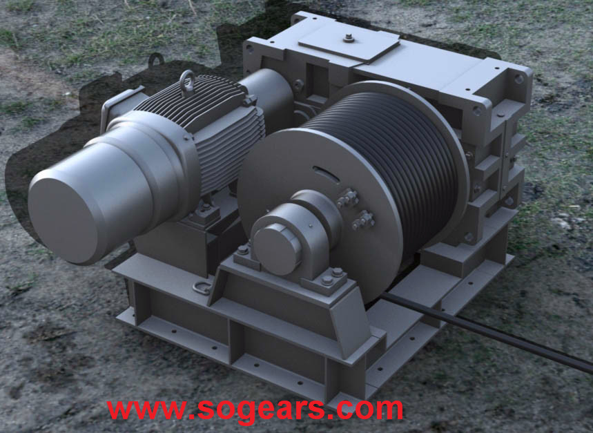 Hollow shaft industrial gearboxes