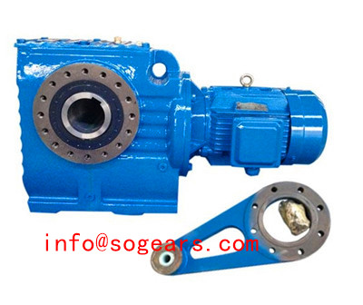 SAT series Hollow Shaft Worm Gearmotor with Torque Arm.jpg
