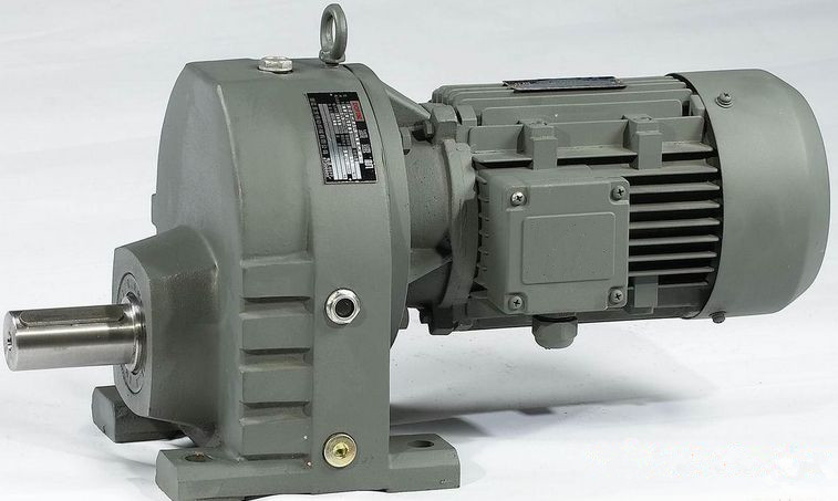 Electric helical gear motors with Brake