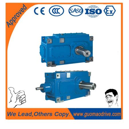 Helical industrial gearbox