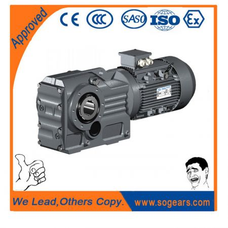 Helical-worm geared motors