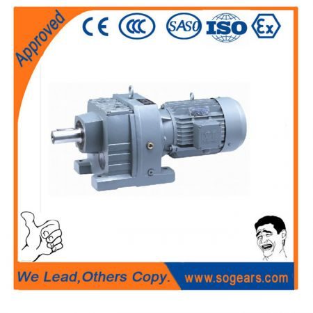 Helical geared motors inline shaft