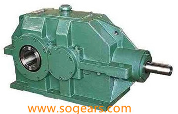 Helical bevel gear speed reducer