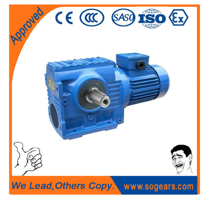 helical worm gear units