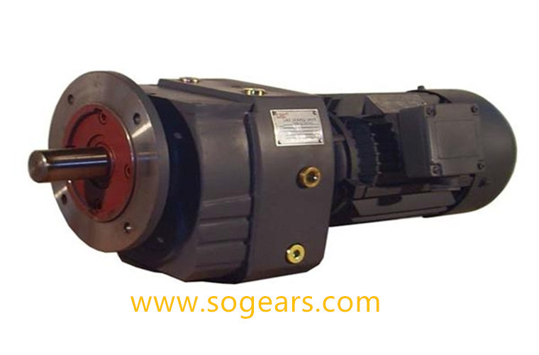 in-line helical gear motor