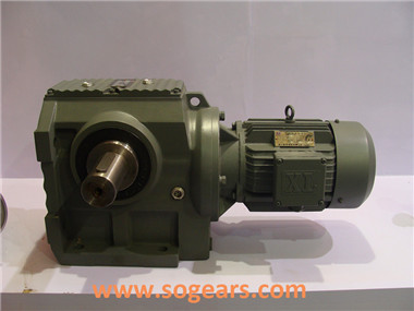 helical bevel motor reducer
