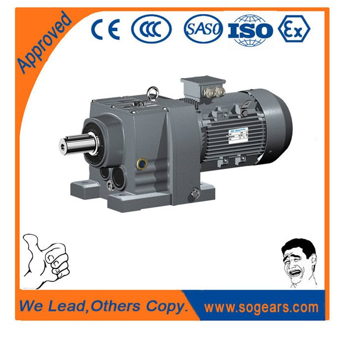 Single-phase electric gearmotor