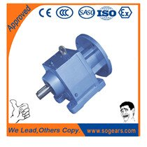 Helical gearbox units