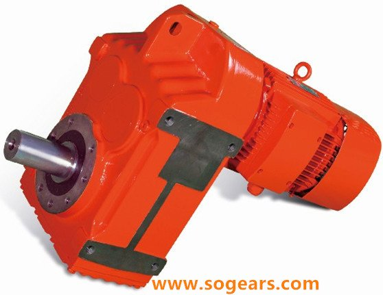 Parallel shaft mounted geared motor