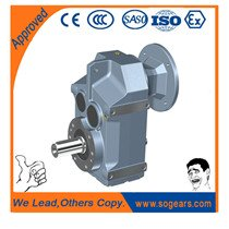 Horizontal helical gearbox