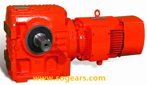 helical worm gear unit