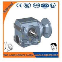 helical-worm gearbox